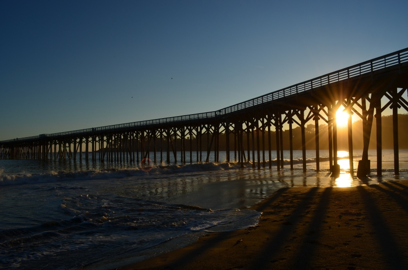 San Simeon pier (San Simeon, California, USA)
