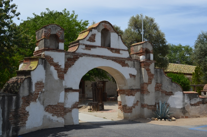 Entry at the Mission San Miguel