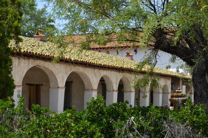 Arcade at the Mission San Miguel