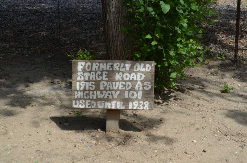 Historic Route 101 sign at the Rios-Caledonia Adobe site