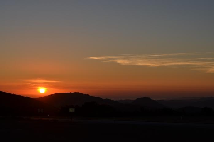 Sunset on the Santa Lucia Range