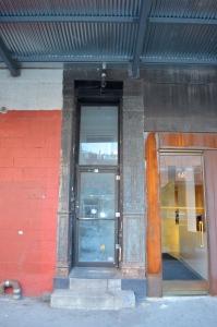 Door to the apartment building