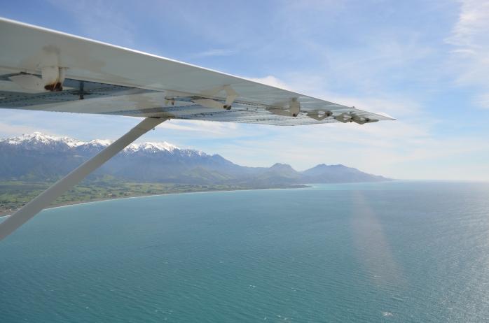 Flying over Kaikoura