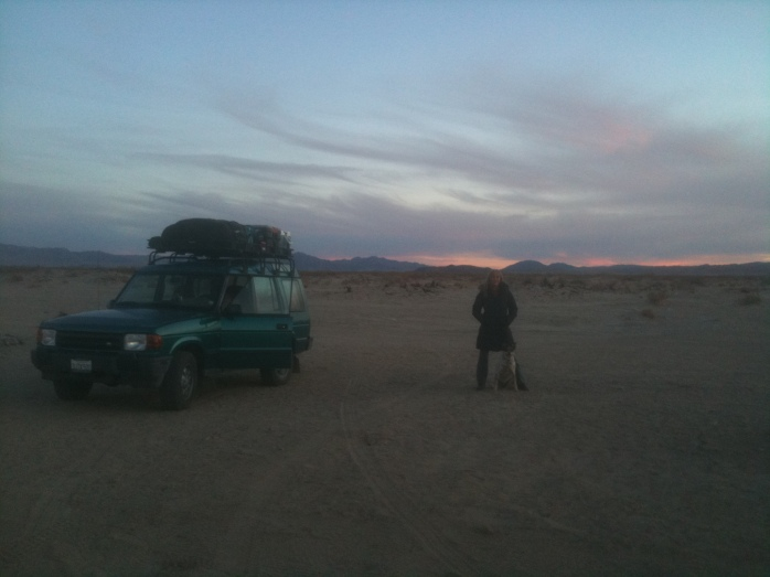 Sunset in Mojave National Preserve