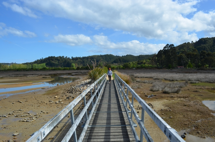 the bridge over Sandy Bay