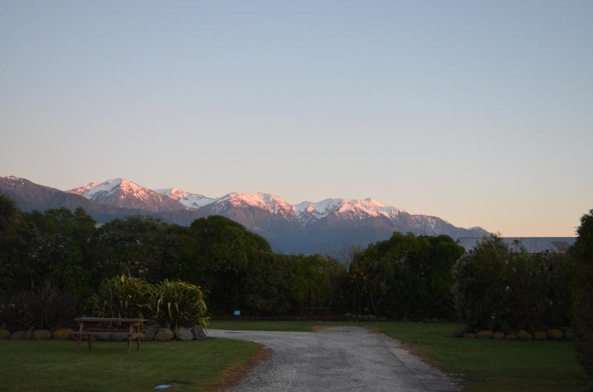 Sunrise on the Kaikoura Range