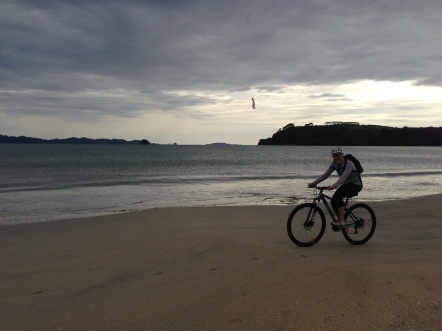 Riding on Cook's Beach