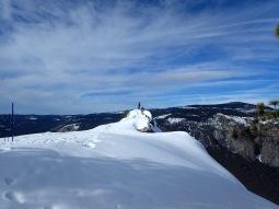 Snowshoer on Dewey Point