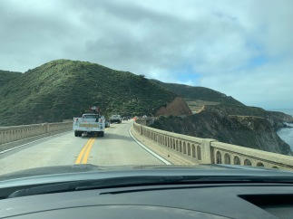 Driving across Bixby Bridge